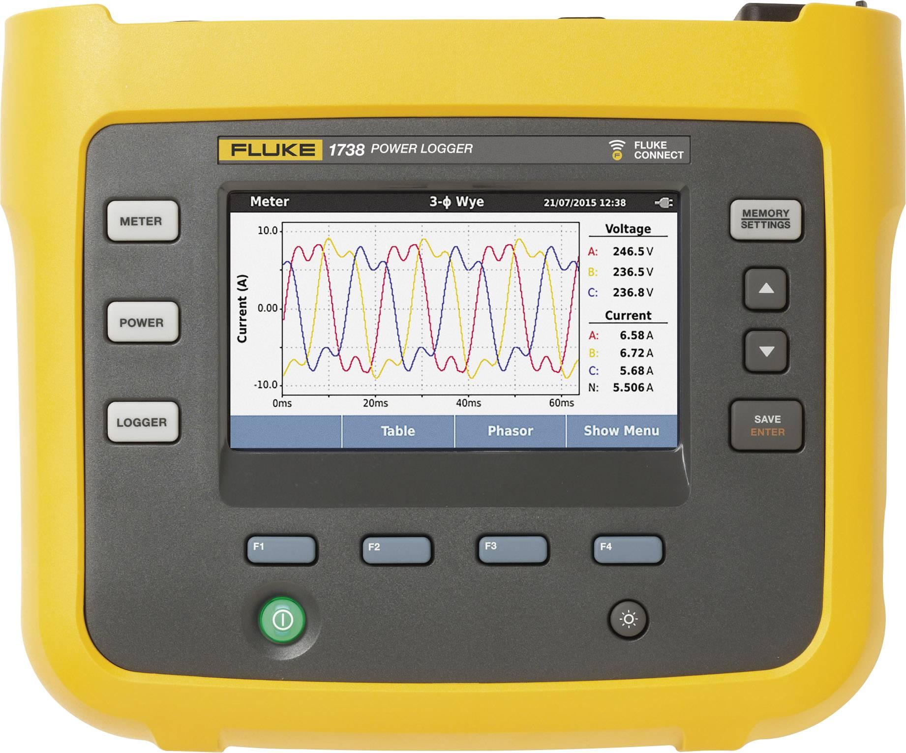 Třífázový energetický záznamník Fluke 1738/B Basic 4588378