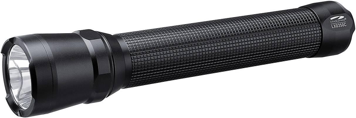 LED kapesní svítilna LiteXpress LX0350C, 422 g, na baterii, černá