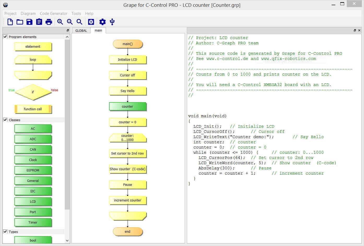 Softvér C-Control Pro Grape pre C-Control PRO AVR32-bit