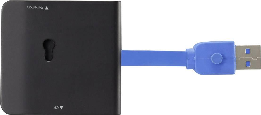 Externí čtečka paměťových karet Renkforce G-C3329 RF-4217415, USB 3.0, černá