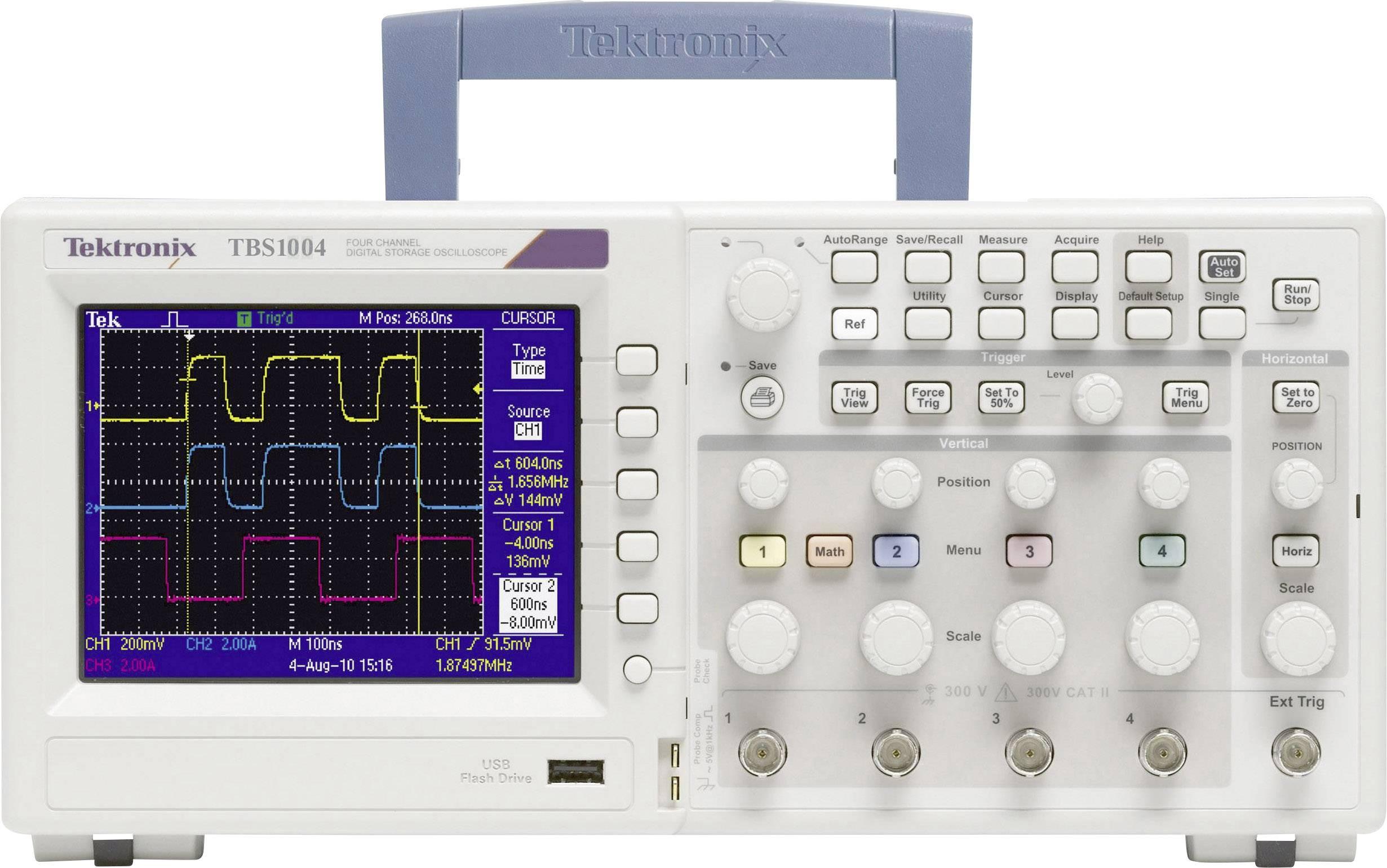 Digitálny osciloskop Tektronix TBS1154, 150 MHz, 2-kanálový, kalibrácia podľa ISO