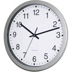 DCF nástenné hodiny EUROTIME Bahnhofsuhr 56831-07, vonkajší Ø 30 cm, strieborná