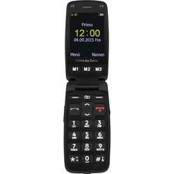 Primo by DORO 406 telefon pro seniory - véčko nabíjecí stanice, tlačítko SOS černá