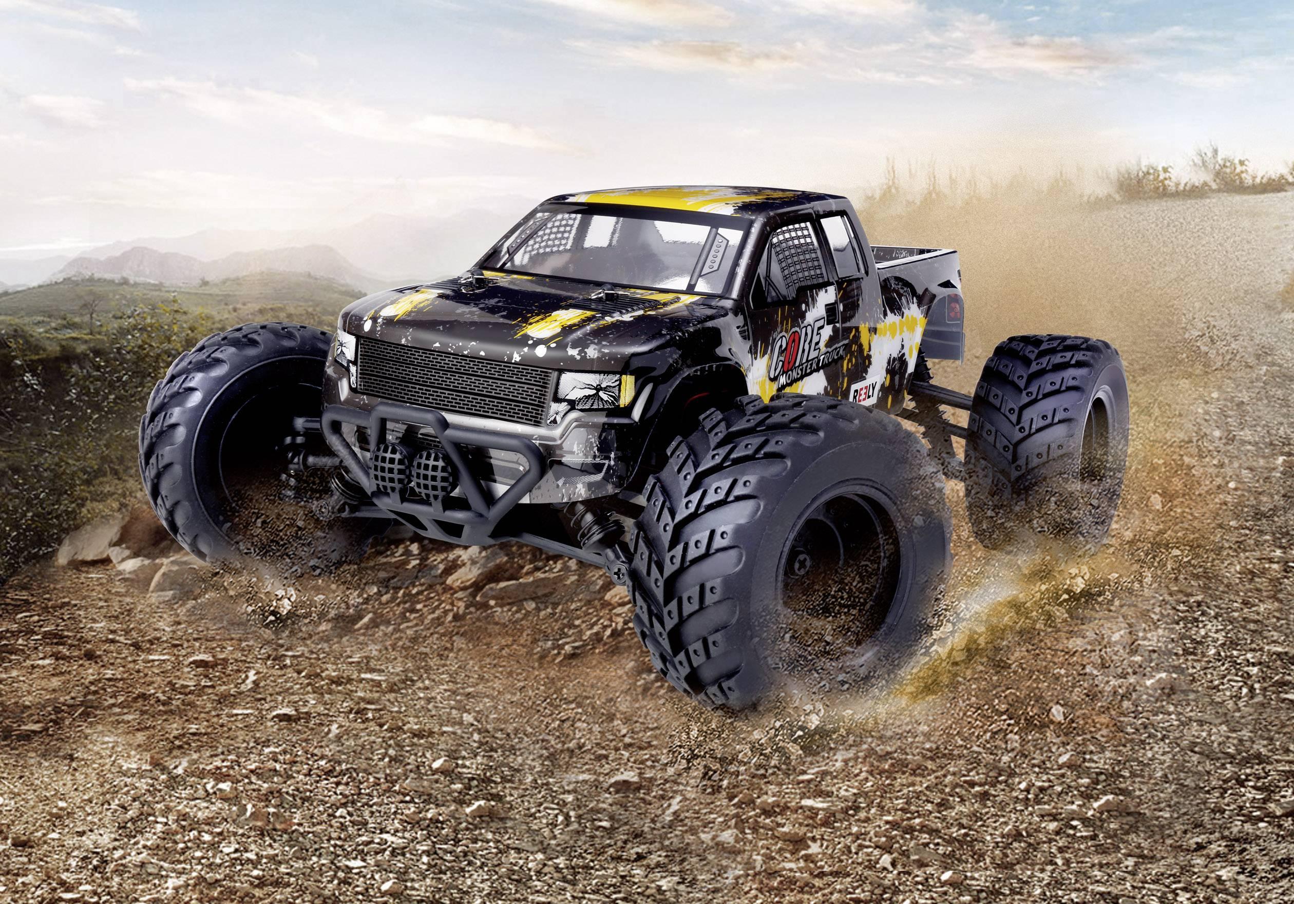 RC model auta monster truck Reely Core, komutátorový, 1:10 XS, 4WD (4x4), RtR, 20 km/h