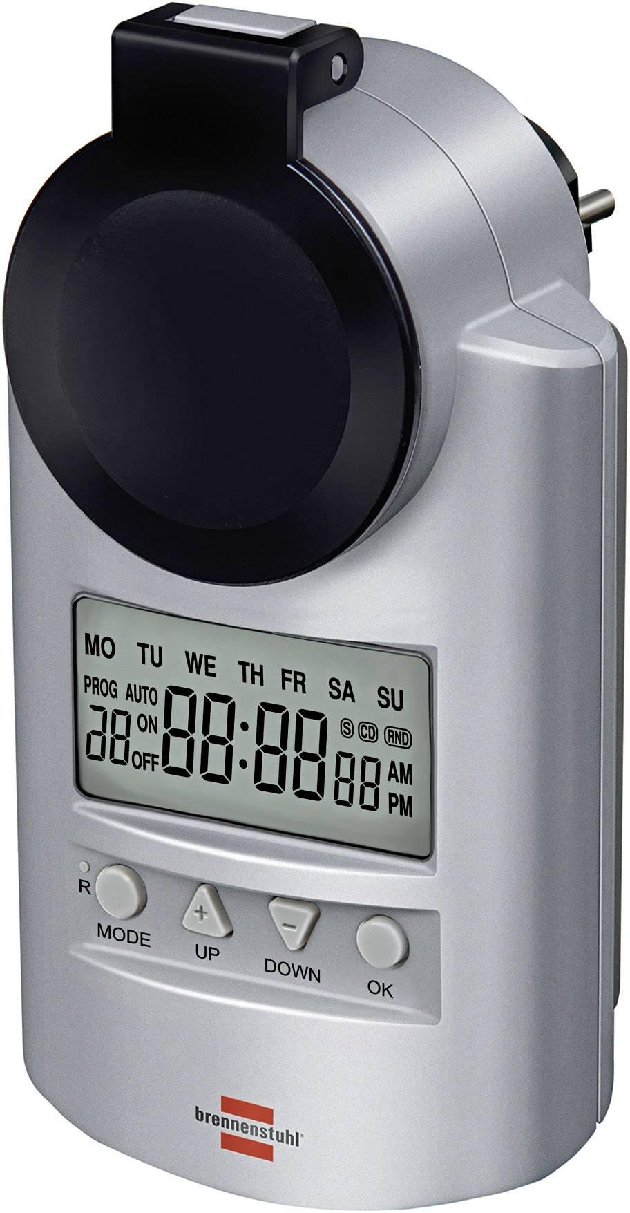 Digitálna spínacia zásuvka Brennenstuhl 1507491, týždenné, IP44, CZ