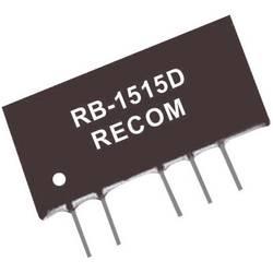 DC/DC měnič Recom RB-0515D/P (10003856), vstup 5 V/DC, výstup ±15 V/DC, ±33 mA, 1 W