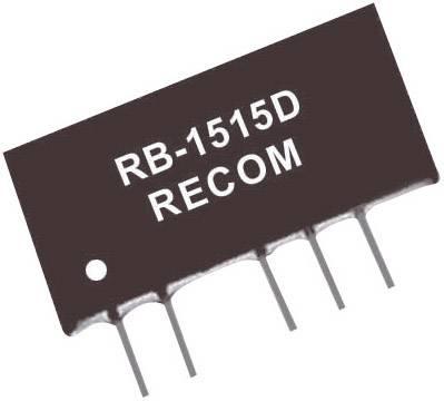DC/DC měnič Recom RB-1212D, vstup 12 V/DC, výstup ±12 V/DC, ±42 mA, 1 W