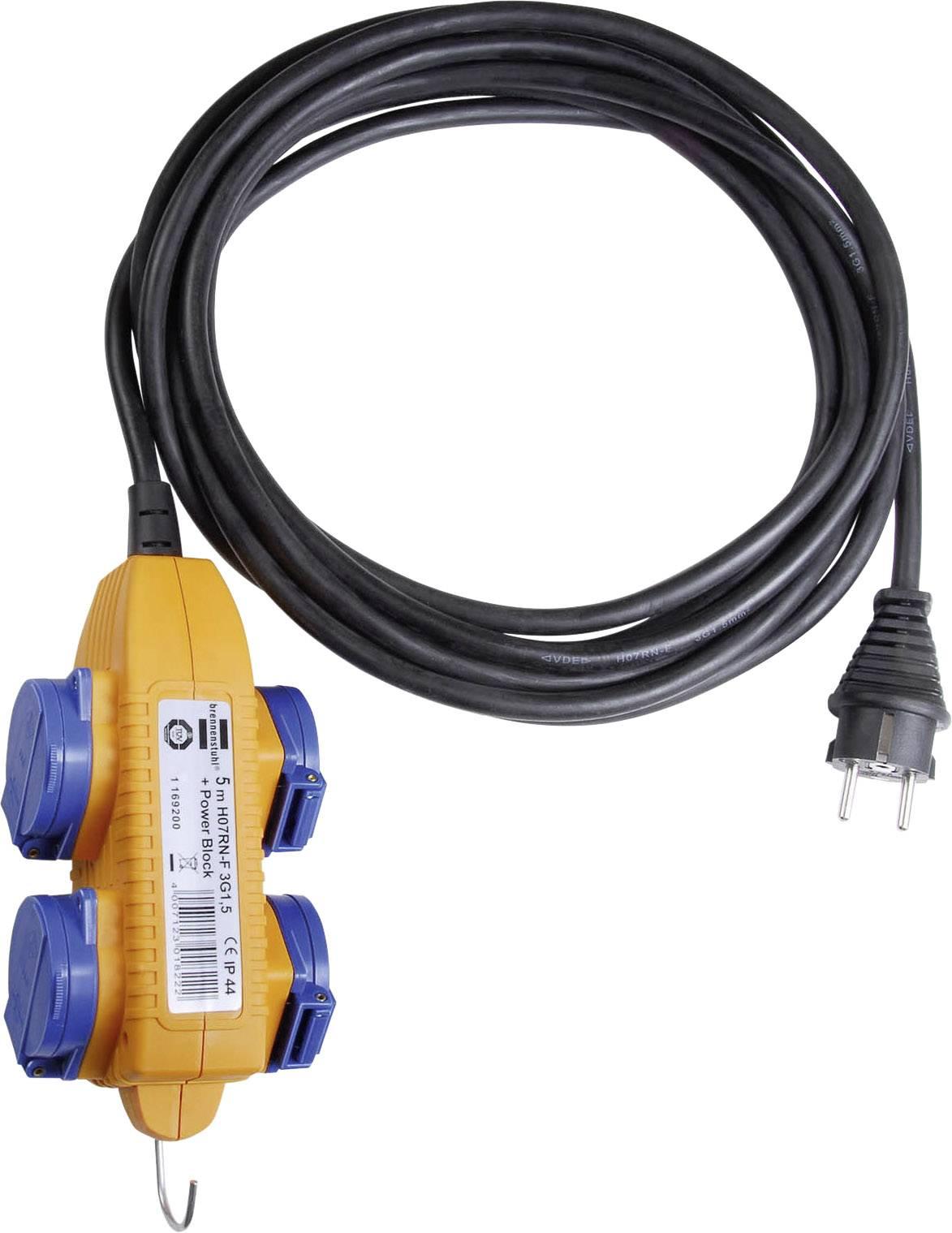 Odolný predlžovací kábel Brennenstuhl 1169204, 4x zásuvka, 5 m, IP44, CZ