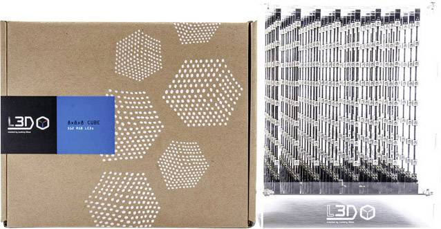 3D experimentální stavebnice LED kostky Looking Glass L3D Cube (8x8x8 Full Color Kit)