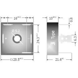 Můstkový usměrňovač B 25 3-fázový TRU COMPONENTS TC-DB25-12 25 A U(RRM) 1200 V