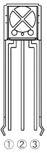 IR přijímač ROHM Semiconductor, RPM7138-H4R, 940 nm