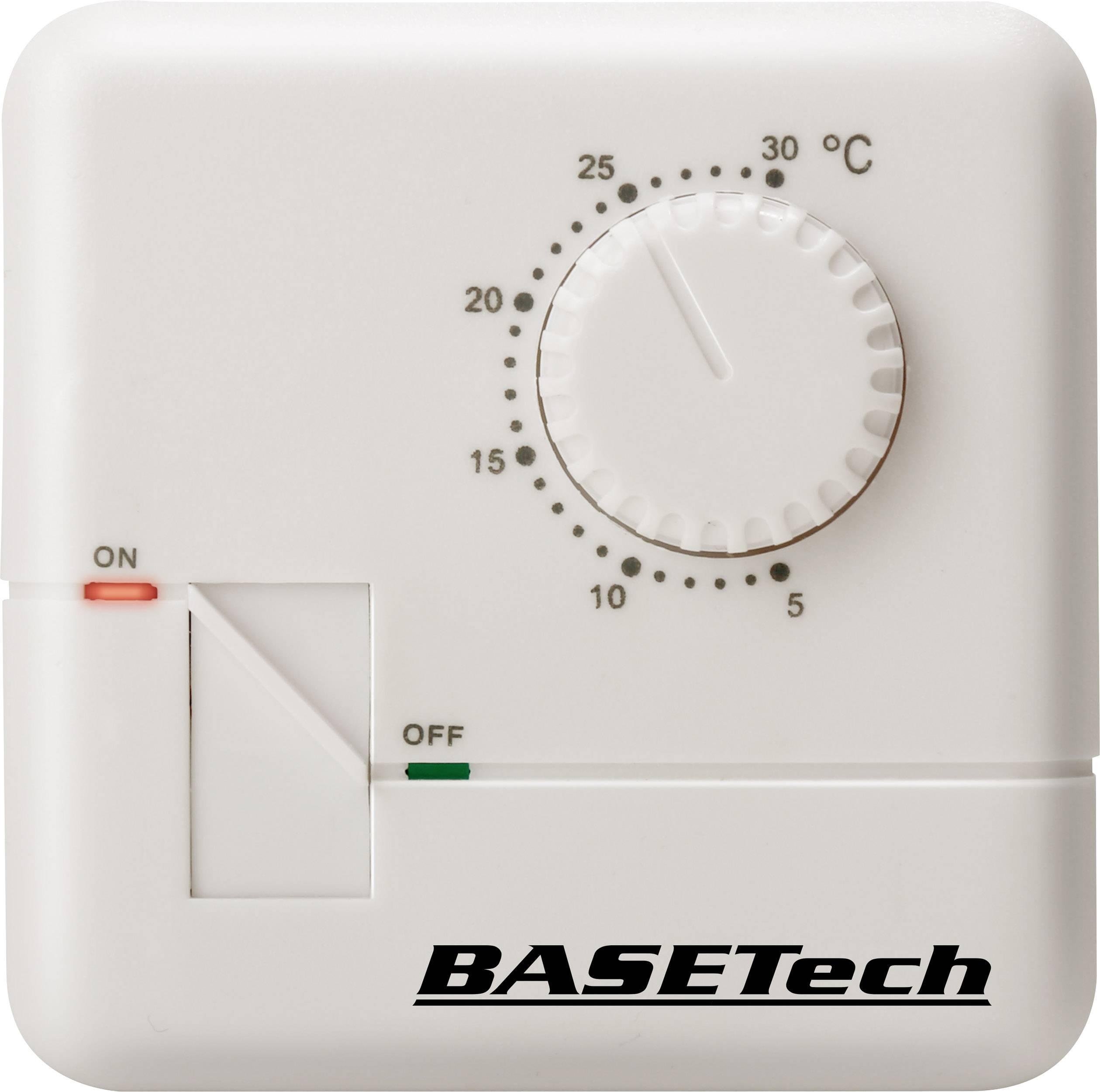 Izbový termostat Basetech MH-555C, denný program, výstavba, 5 do 30 °C