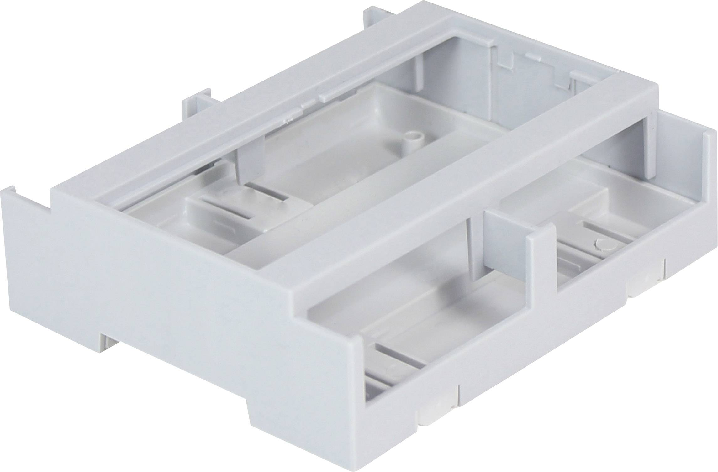Pouzdro na DIN lištu Axxatronic CDIB/6/L2-KIT-CON 106.2 x 100 x 31.9 , polykarbonát, šedá, 1 ks