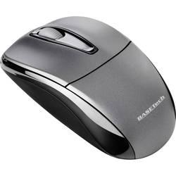Optická Wi-Fi myš Basetech M105GX BT-1407913, černá, šedá