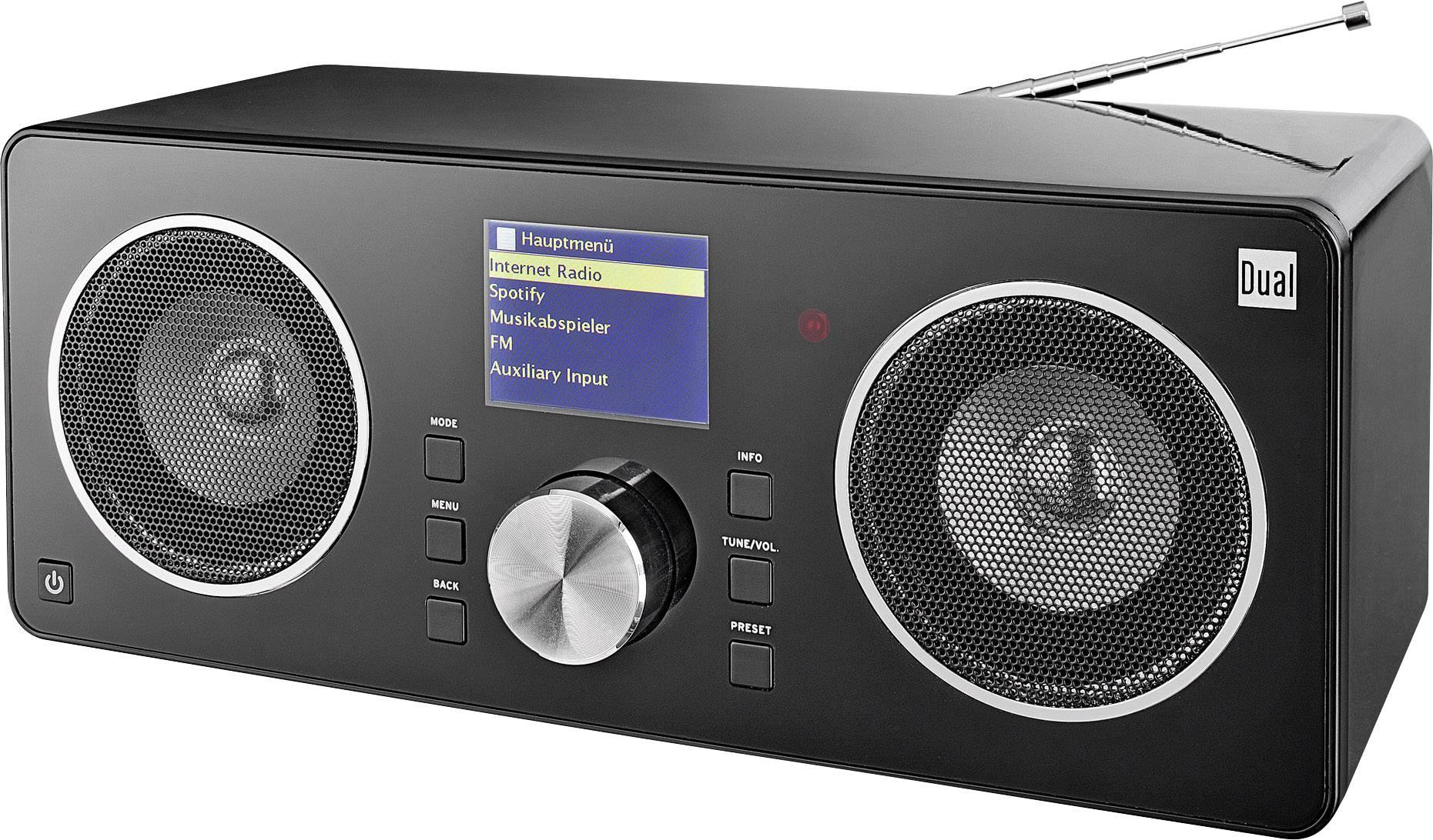 Internetové, DAB+, FM stolní rádio Dual Radio Station IR 8S, Wi-Fi, černá
