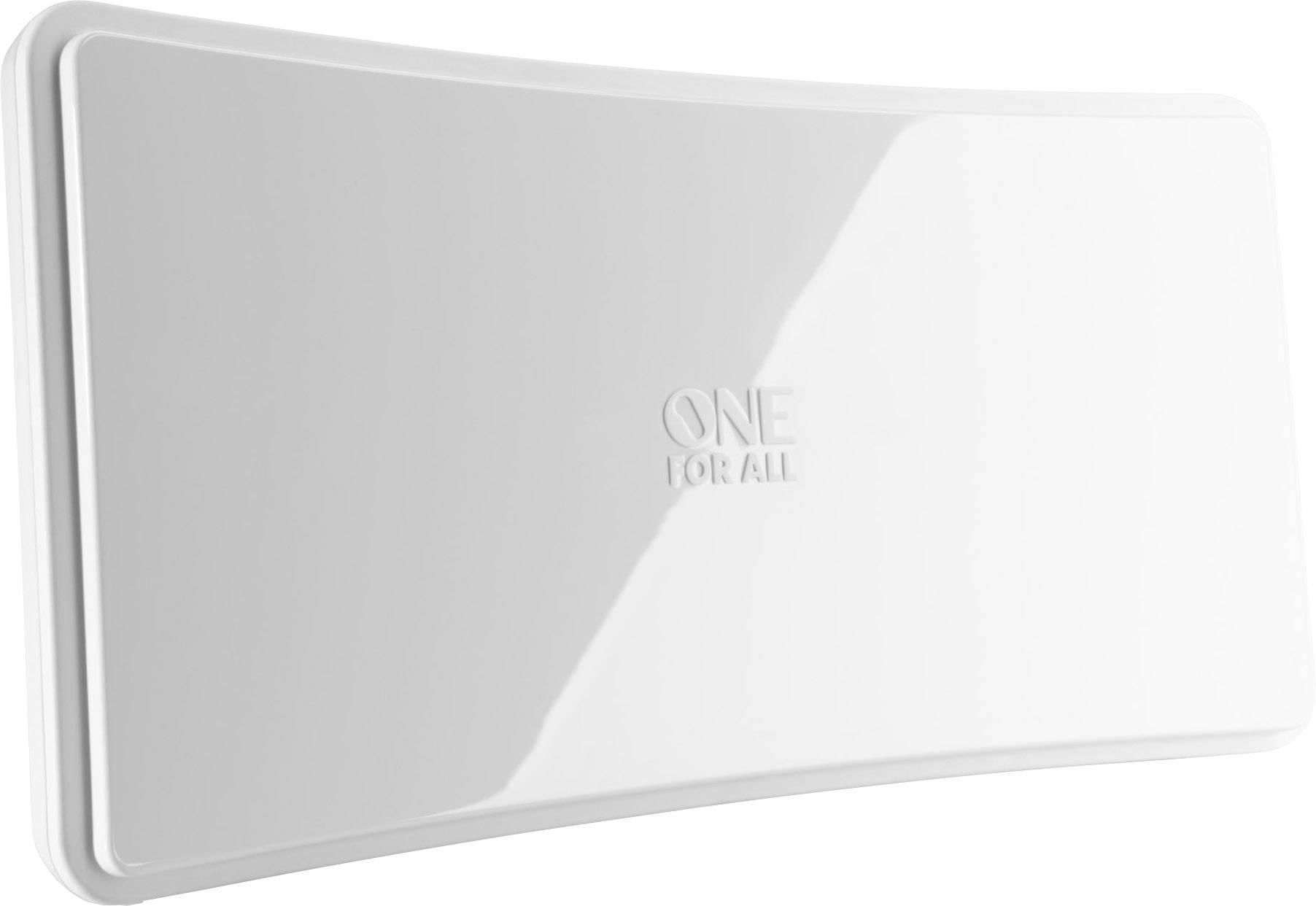 Aktivní plochá DVB-T/T2 anténa One For All Curved SV 9421, vnitřní, 42 dB, bílá