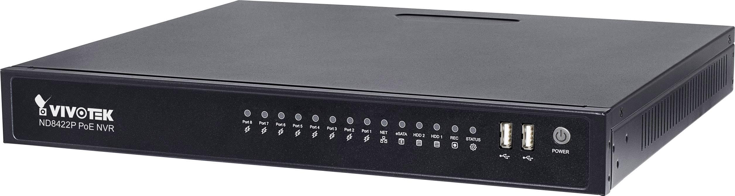 Síťový IP videorekordér (NVR) pro bezp. kamery Vivotek ND8422P, 16kanálový