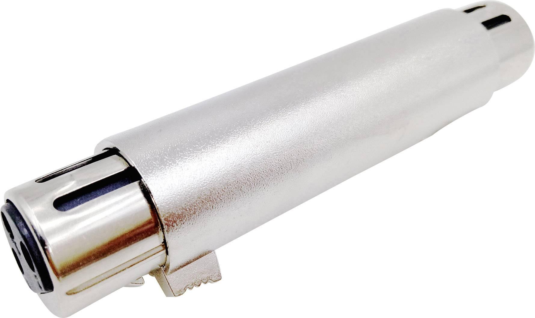 XLR adaptér Conrad Components, XLR zásuvka - XLR zásuvka, stereo, Pólů:3, 1 ks