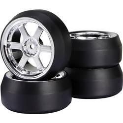 Kompletné kolesá Drift Reely D6C + D2 pre cestný model, 52 mm, 1:10, 1 ks, chróm