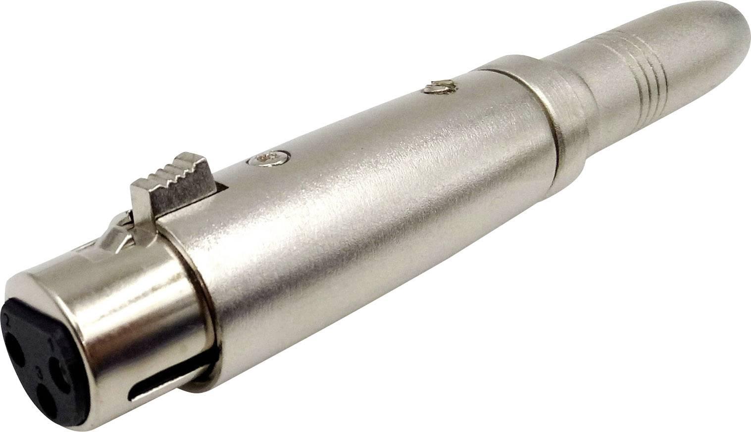 XLR adaptér Conrad Components, XLR zásuvka - jack zásuvka 6,3 mm, stereo, Pólů:3, 1 ks