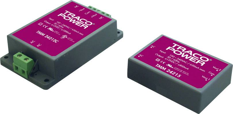 AC/DC zdroj do DPS TracoPower TMM 24124, 24 V/DC, 1.0 A, 24 W