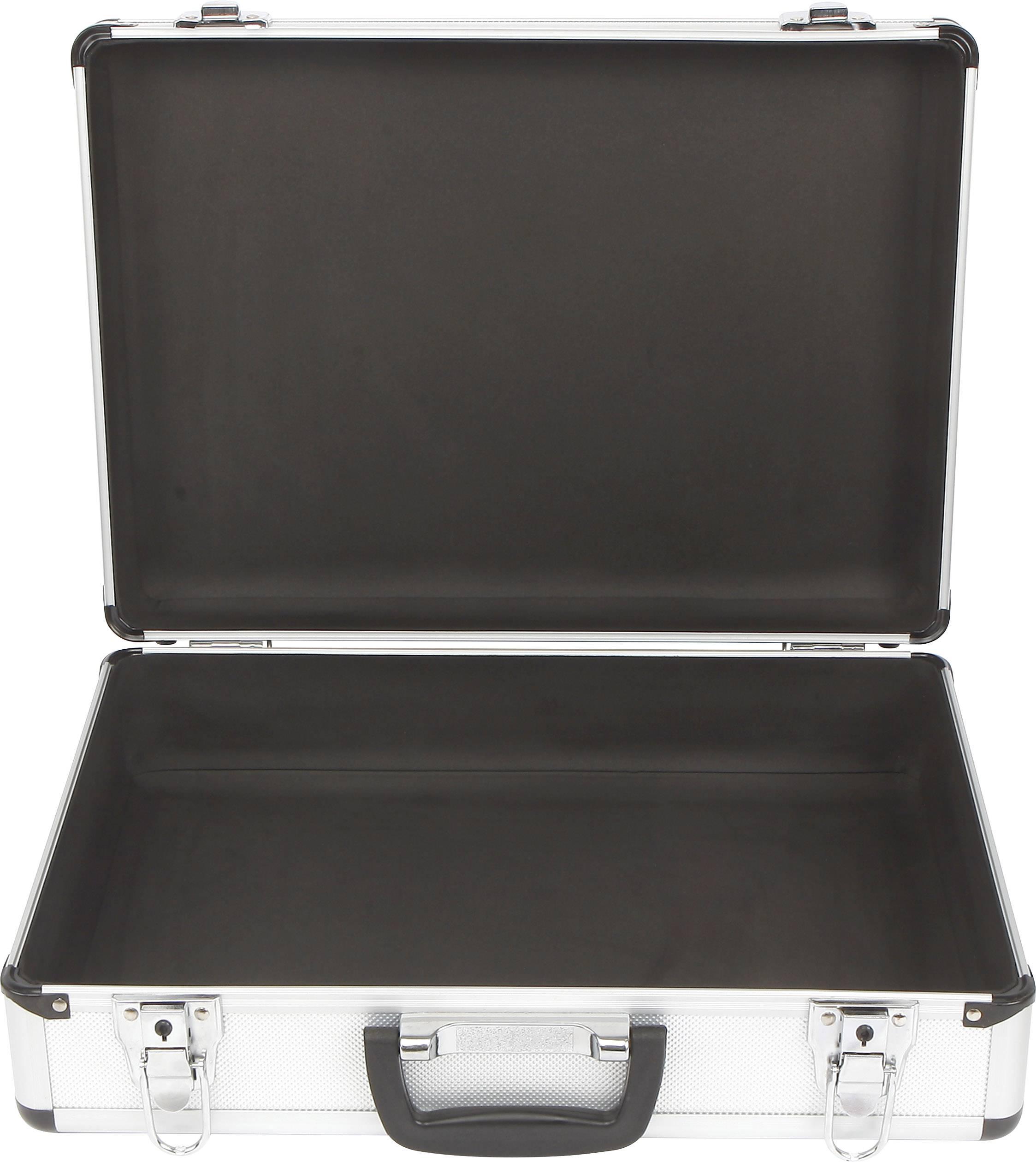 Univerzálny hliníkovy kufrík TOOLCRAFT 1409402, Rozmery: (š x v x h) 428 x 123 x 310 mm