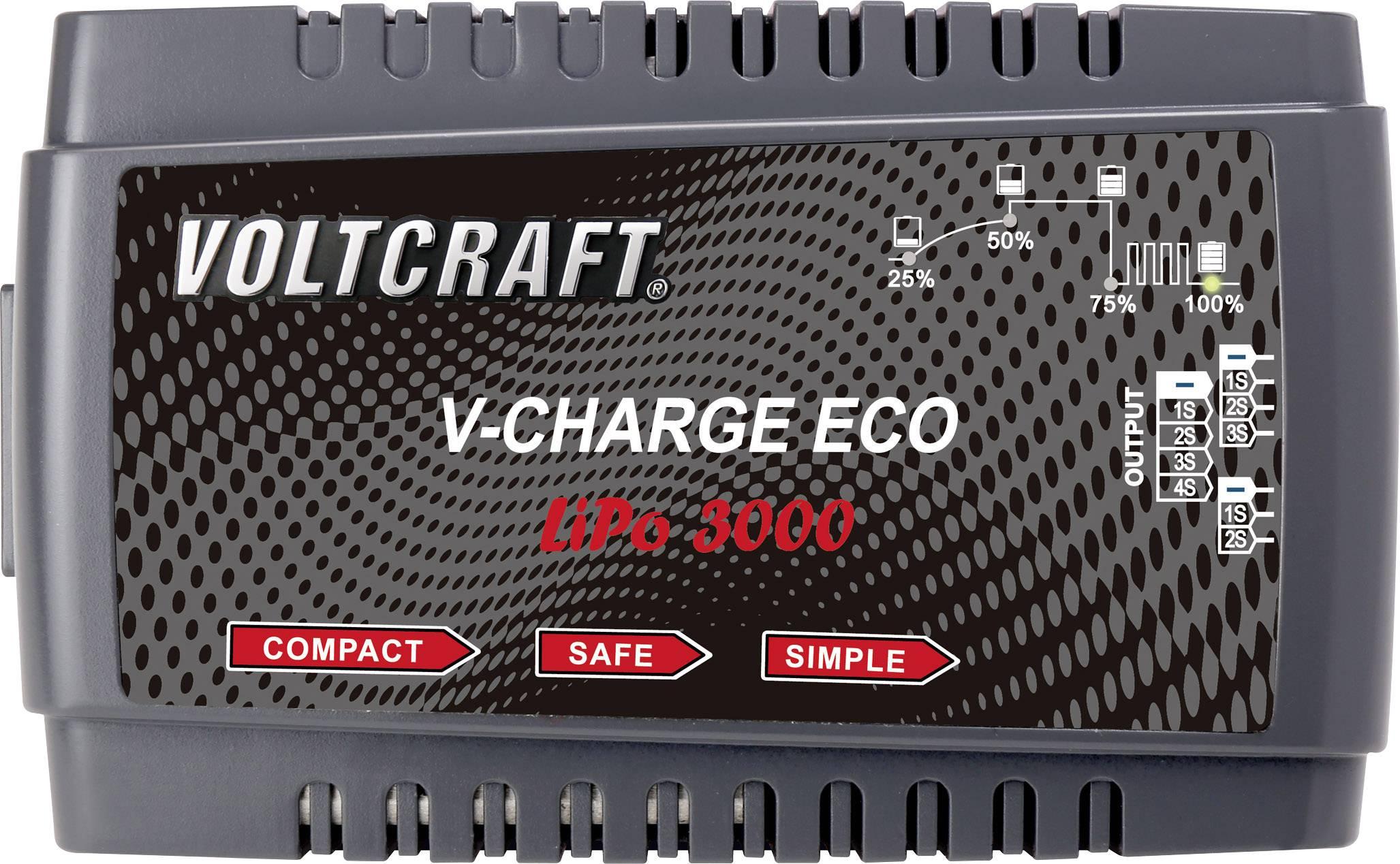 Modelárska nabíjačka Li-Pol Voltcraft V-Charge Eco LiPo 3000, 230 V, 3 A
