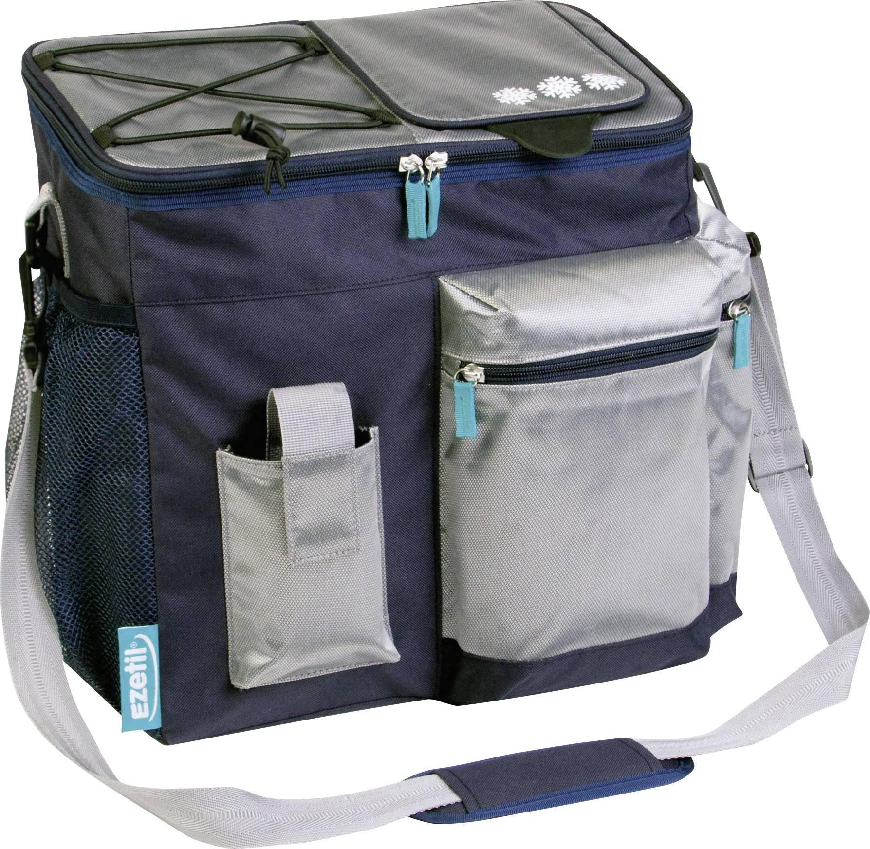 Chladicí taška (box) na party Ezetil Travel in Style 18, 18 l, námořnická, stříbrná