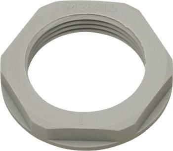 Pojistná matka Helukabel KMK-PA 94250, s límcem, PG7, polyamid, stříbrnošedá (RAL 7001), 1 ks