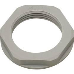 Pojistná matka Helukabel KMK-PA 94253, 94253, s límcem, PG13.5, polyamid, stříbrnošedá (RAL 7001), 1 ks