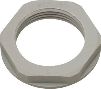 Pojistná matka Helukabel KMK-PA 94256, s límcem, PG29, polyamid, stříbrnošedá (RAL 7001), 1 ks