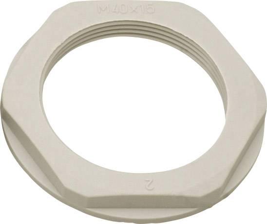 Pojistná matka Helukabel KMK-PA 90718, s límcem, PG42, polyamid, světle šedá , 1 ks