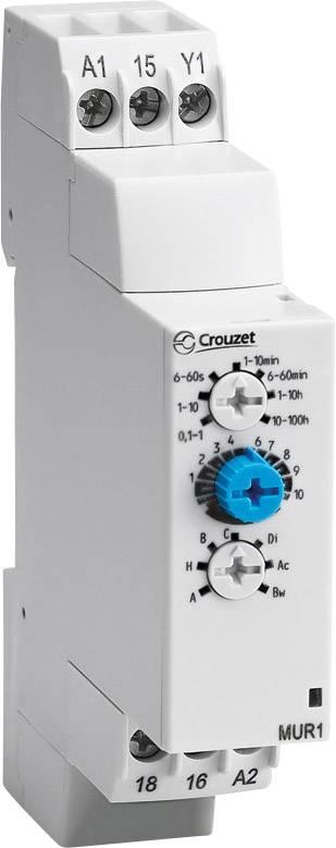 Časové relé multifunkčné Crouzet MXR1 88827185, čas.rozsah: 0.1 s - 100 h, 1 prepínací, 1 ks