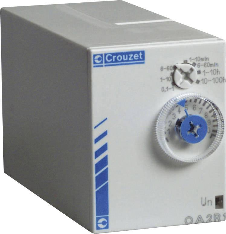 Časové relé monofunkčné Crouzet PC2R1 88867435, čas.rozsah: 0.1 s - 100 h, 2 prepínacie, 1 ks