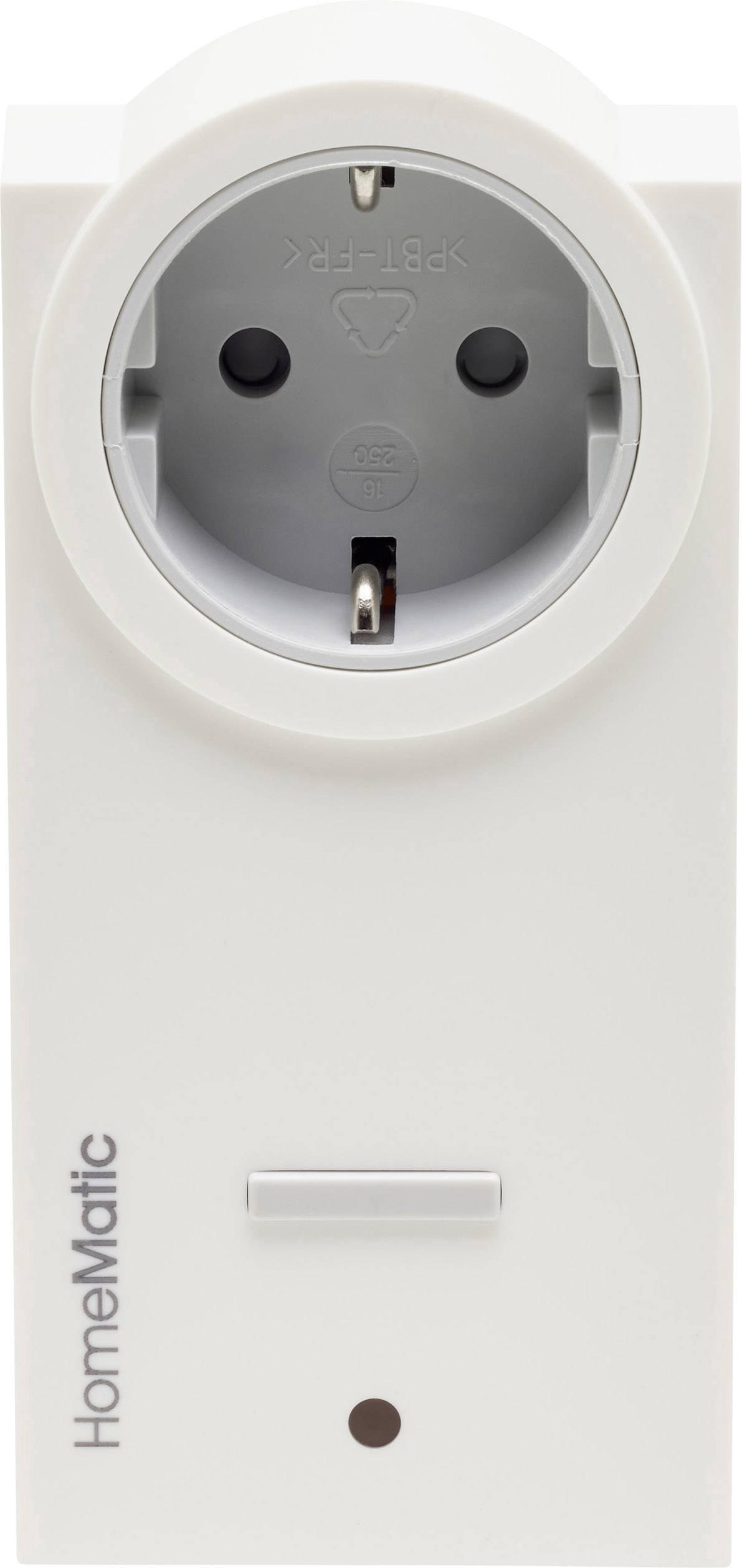 Bezdrôtová spínacia zásuvka HomeMatic 132989A0 1-kanálový , max. dosah 150 m