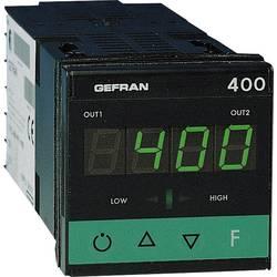 Termostat Gefran 400-DR-1-000, typ senzoru J , K, R , S , T , B , E , N , Pt100, PTC, -55 do 120 °C, relé 5 A, tranzistor