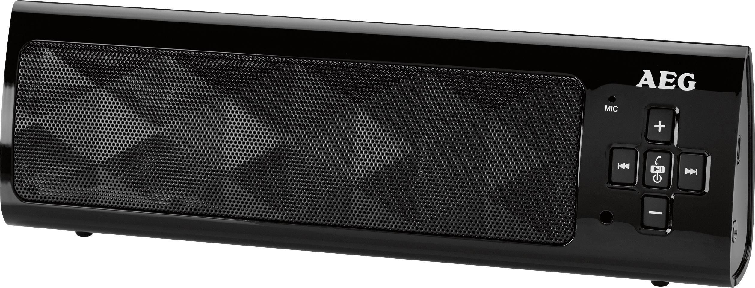 Bluetooth® reproduktor AEG BSS 4818 hlasitý odposluch, čierna