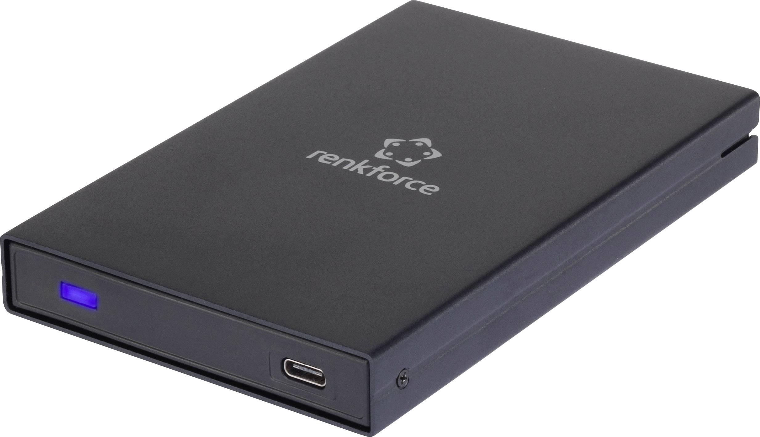 """Puzdro na pevný disk SATA 2.5 """" Renkforce RF-4233384, čierna"""