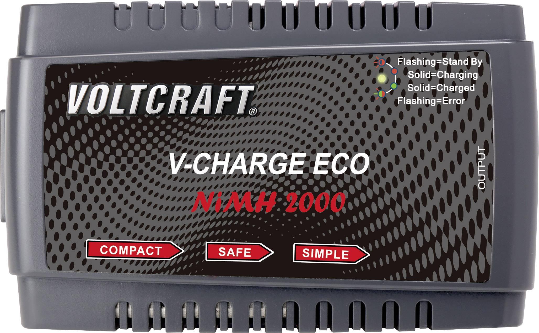Modelárska nabíjačka NiMH Voltcraft V-Charge Eco NiMh 2000, 230 V, 2 A