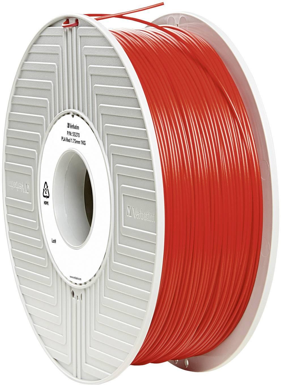 Vlákno pre 3Dtlačiarne, Verbatim 55270, PLA plast , 1.75 mm, 1 kg, červená