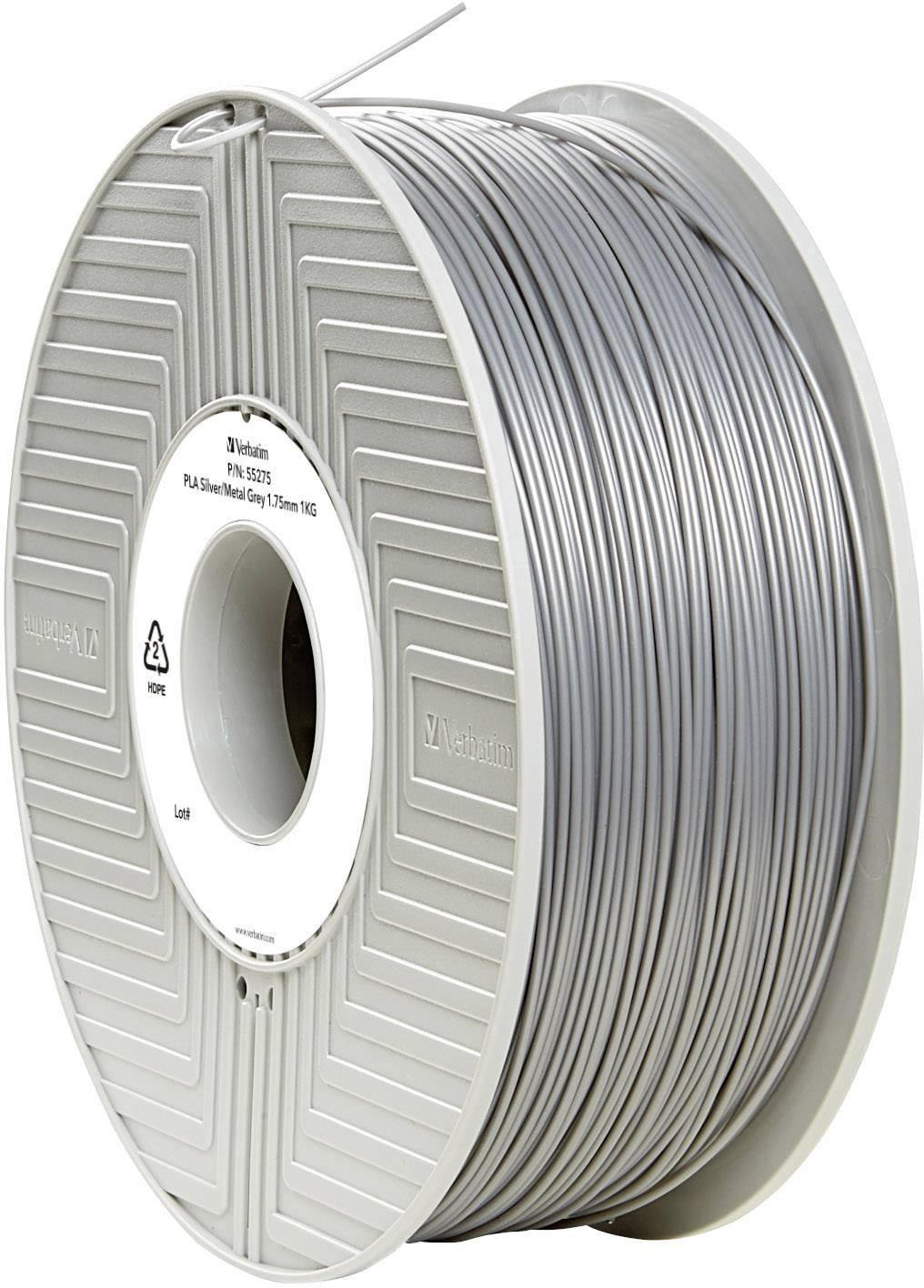 Vlákno pre 3Dtlačiarne, Verbatim 55275, PLA plast , 1.75 mm, 1 kg, strieborná (matná)