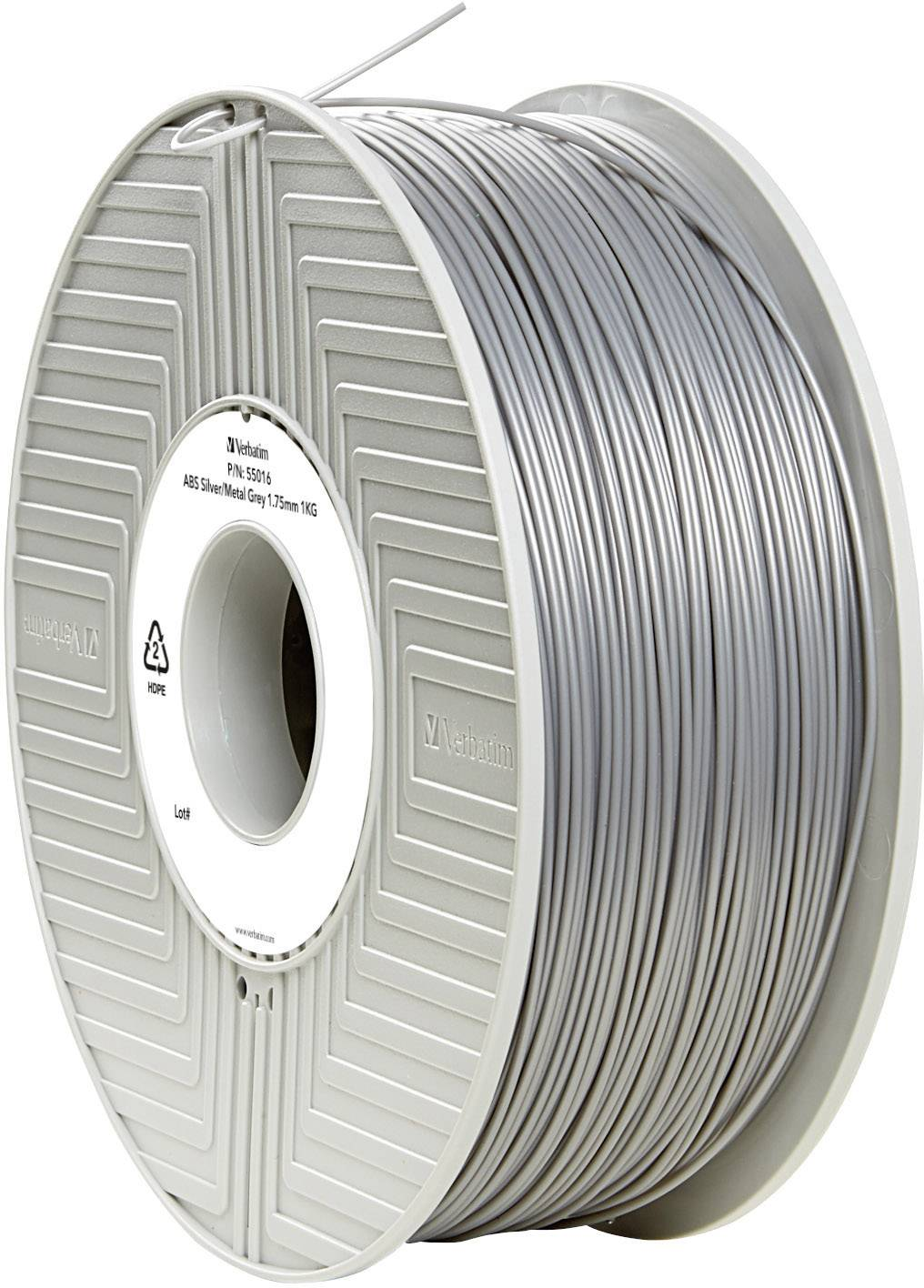 Vlákno pro 3D tiskárny Verbatim 55016, ABS plast, 1.75 mm, 1 kg, stříbrná (matná)