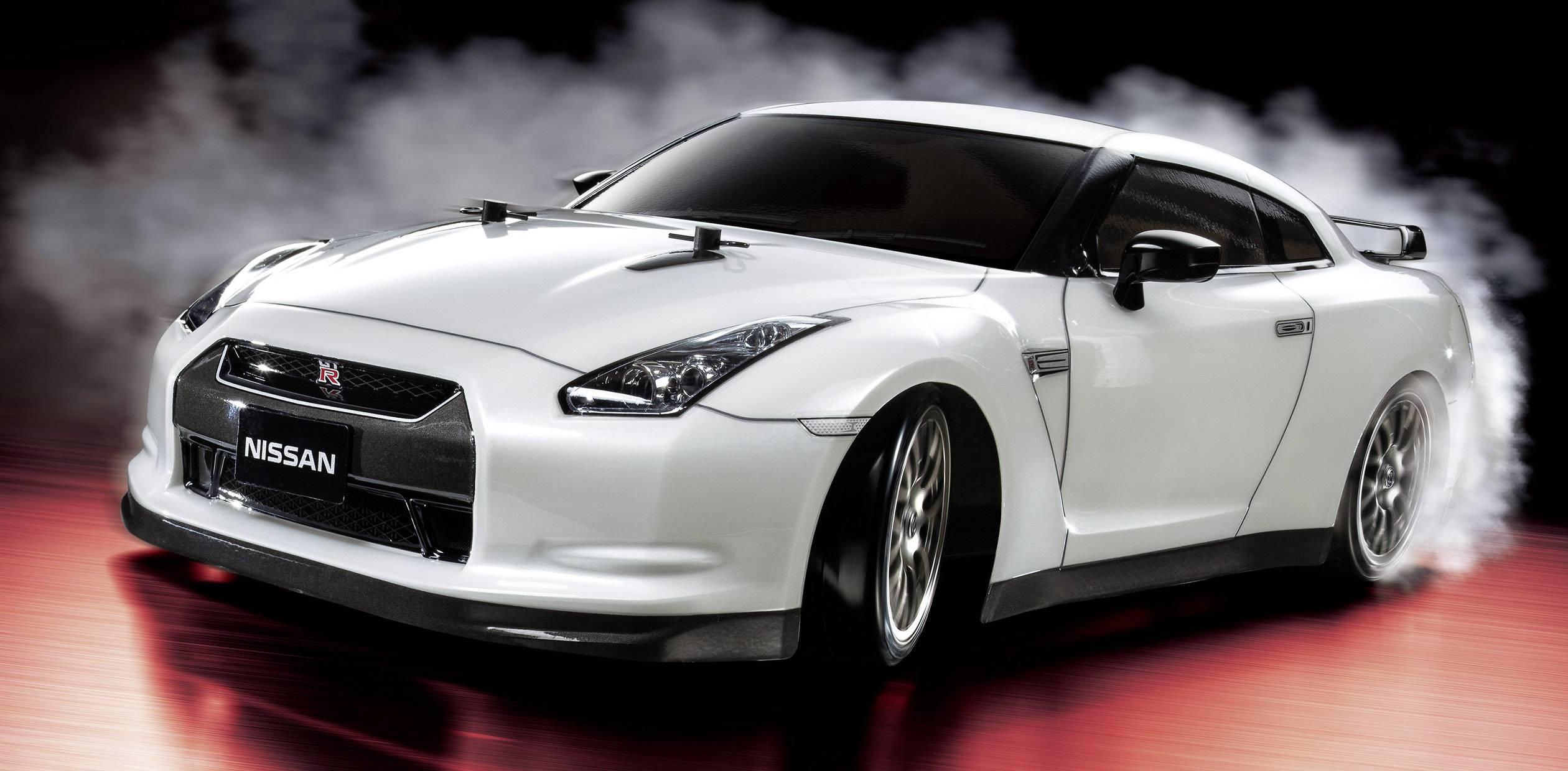 RC model auta Tamiya Nissan GT-R Drift, 1:10, elektrický, 4WD (4x4), BS