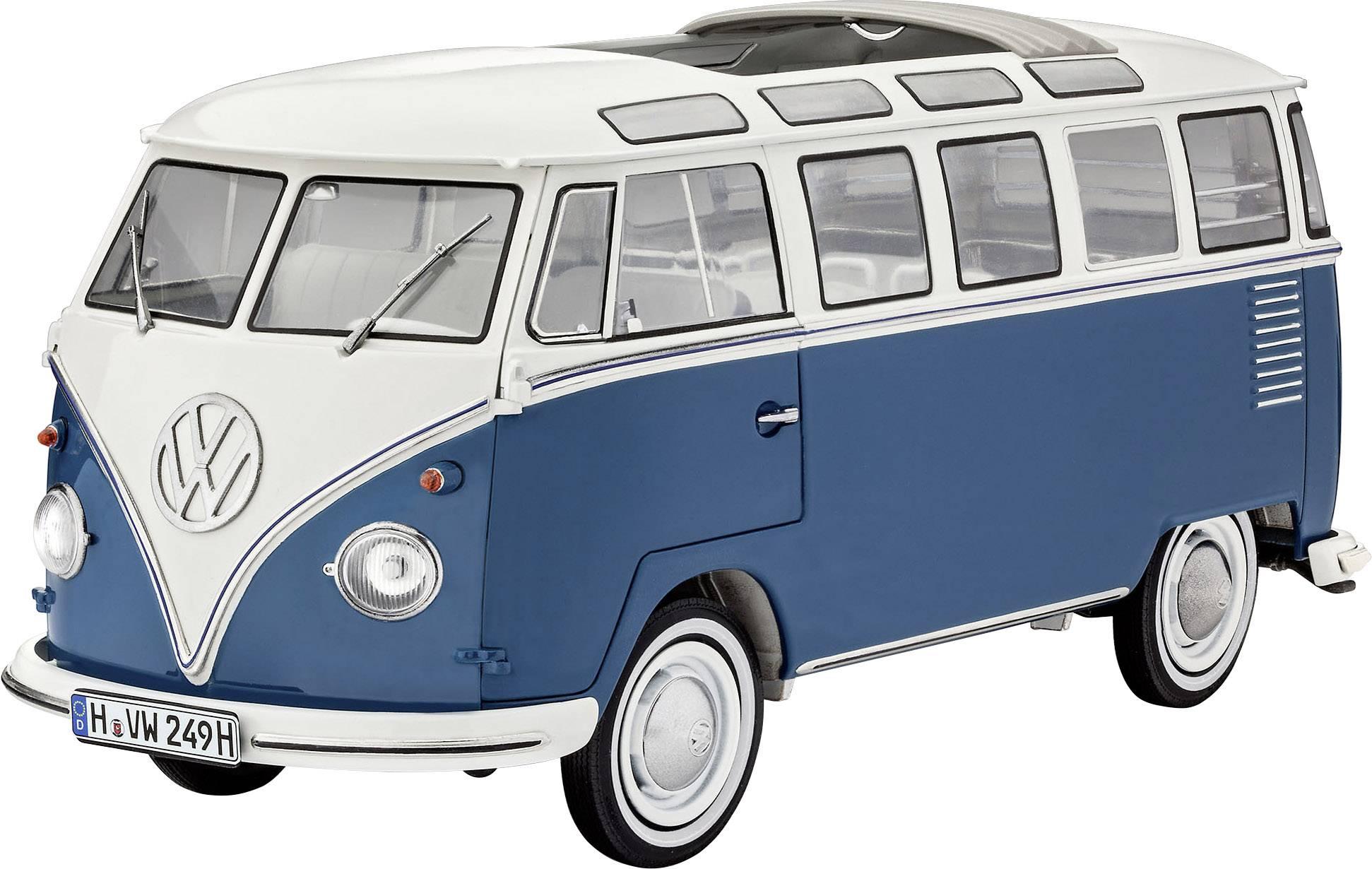 Model autobusa, stavebnica Revell Volkswagen T1 Bus Samba 07009, 1:16