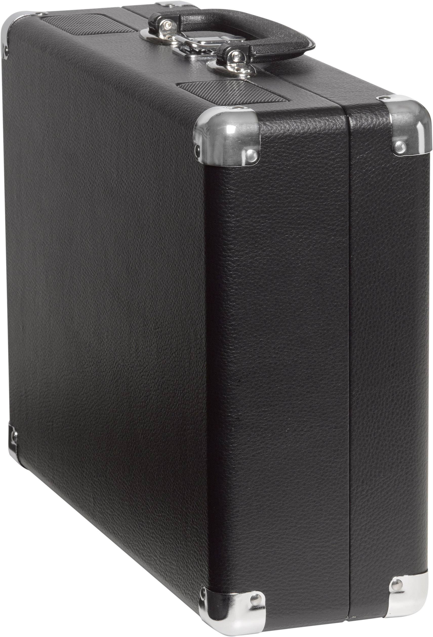 Kufříkový USB gramofon Denver VPL-120, černá