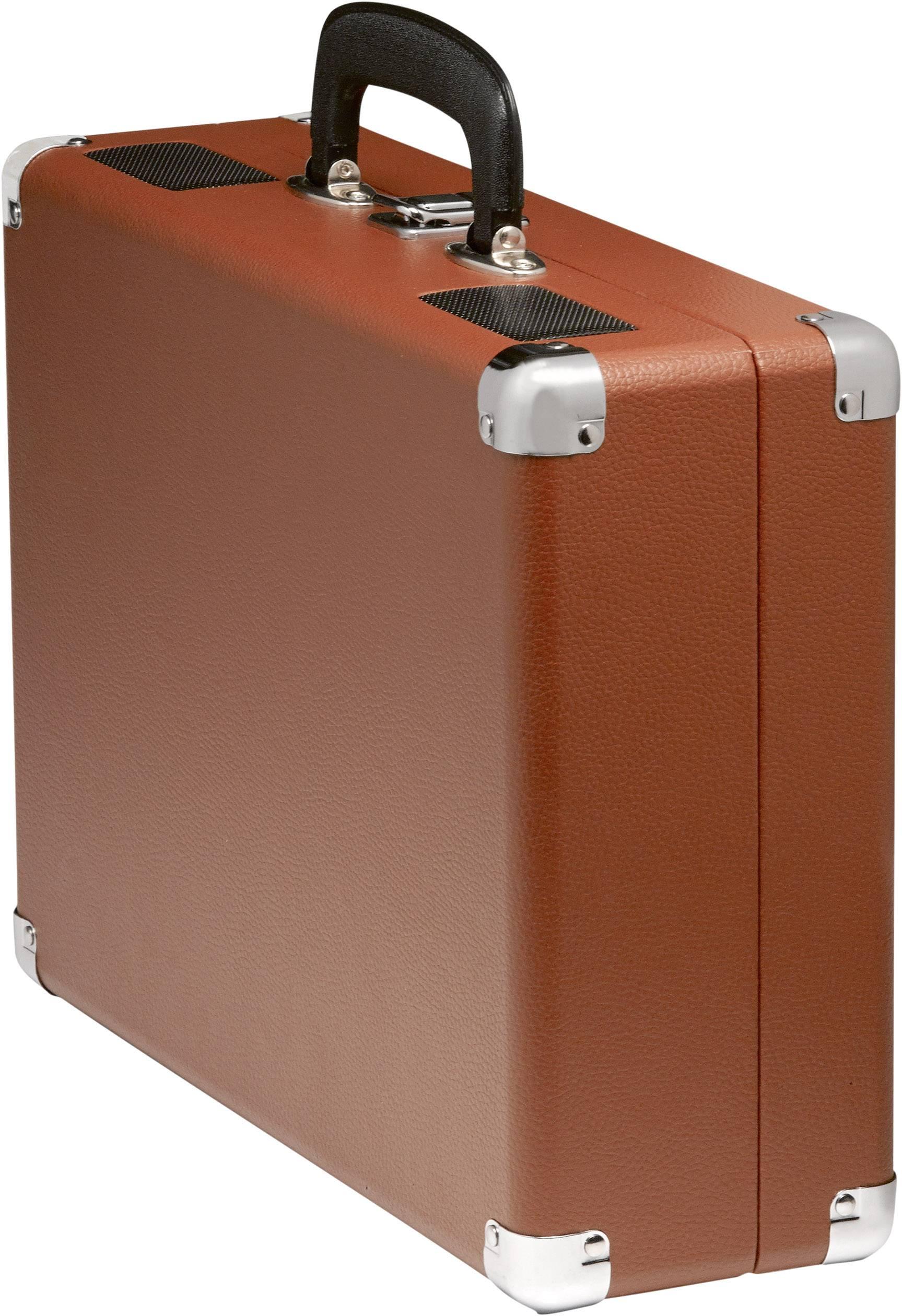 Kufříkový USB gramofon Denver VPL-120, hnědá