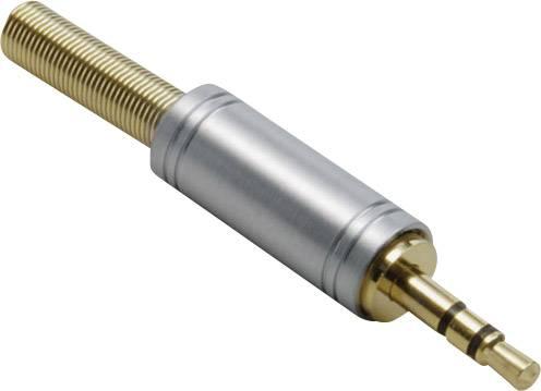 Jack konektor 3.5 mm stereo zástrčka, rovná BKL Electronic 1103082, pinov 3, zlatá, 1 ks