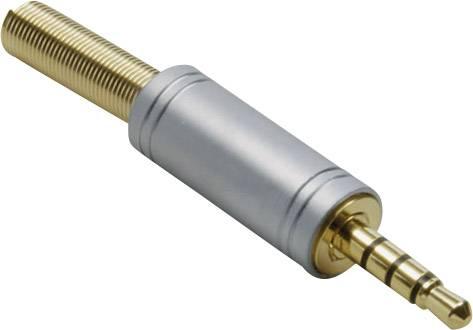 Jack konektor 3.5 mm BKL Electronic 1103088 1103088 Pólů: 4, stereo, zlatá, pozlacený, 1 ks