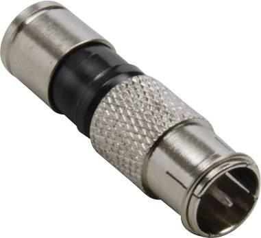 Kompresní F zástrčka Quick TRU COMPONENTS 1582453, průměr lanka: 7.4 mm, 1 ks