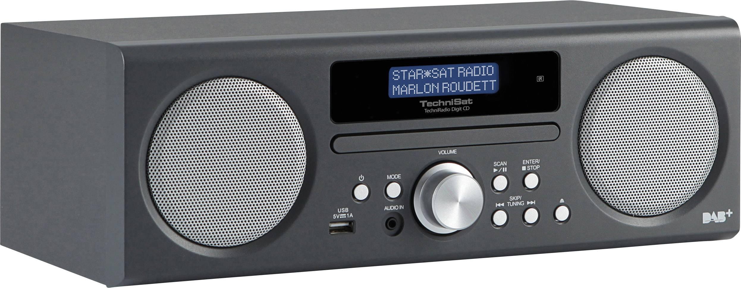 DAB+ rádio TechniSat TechniRadio Digit CD AUX, CD, USB antracitová